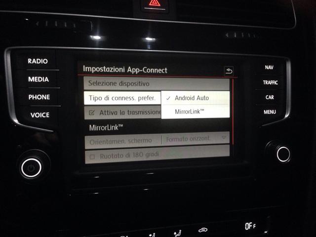 mirrorlink carplay e android auto su sistemi multimediali mk7 pagina 227. Black Bedroom Furniture Sets. Home Design Ideas