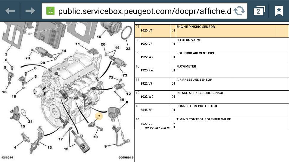 Peugeot RCZ Forum     P1340 Camshaft position sensor B