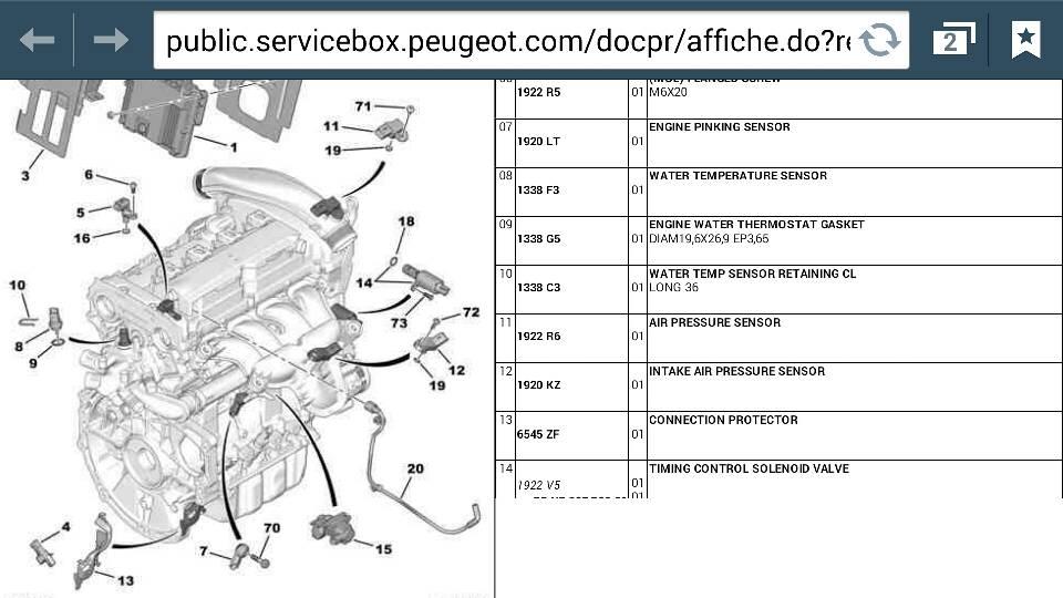 Peugeot Rcz Forum  U2022 P1340 Camshaft Position Sensor B Circuit Malfunction   Drivetrain