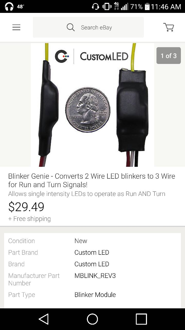 3 wire turn signal to 2 wire