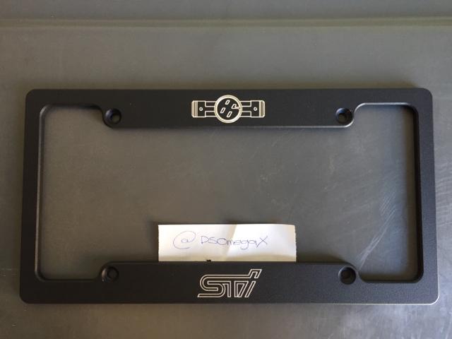 Yospeed Custom Engraved License Plate Frame - Scion FR-S Forum ...