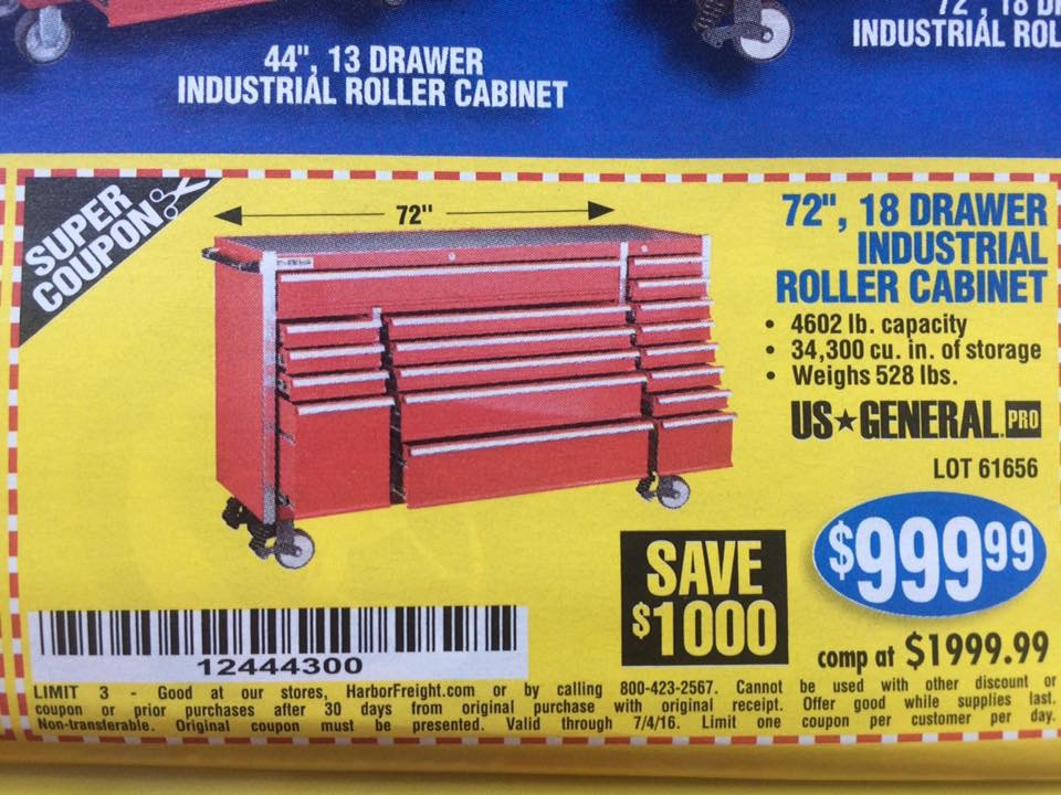 "harbor freight 72"" tool box - tool deals - power tool forum – tools ..."