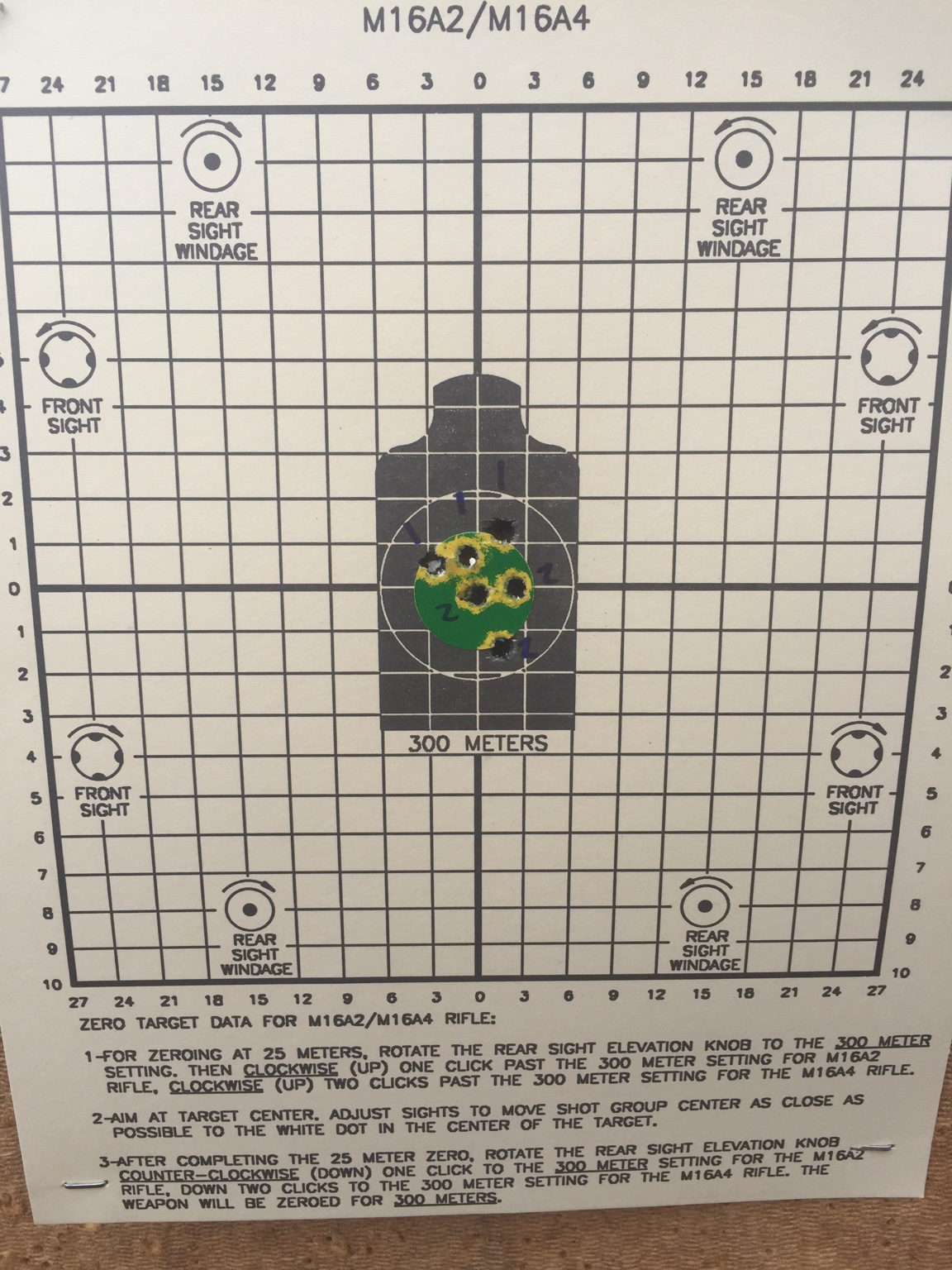 Front sight paper targets for sale