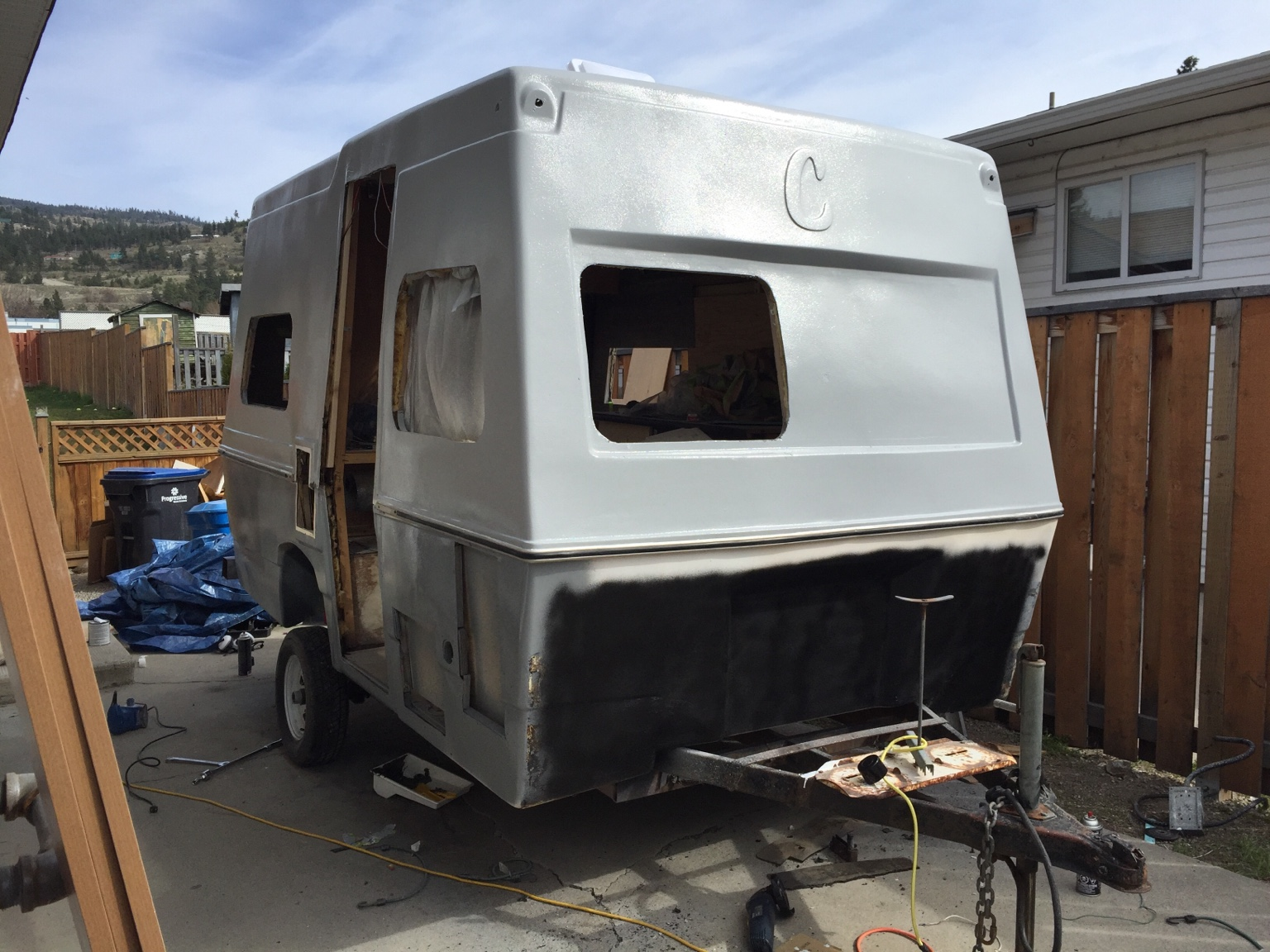 Painting The Trailer Results So Far Fiberglass Rv