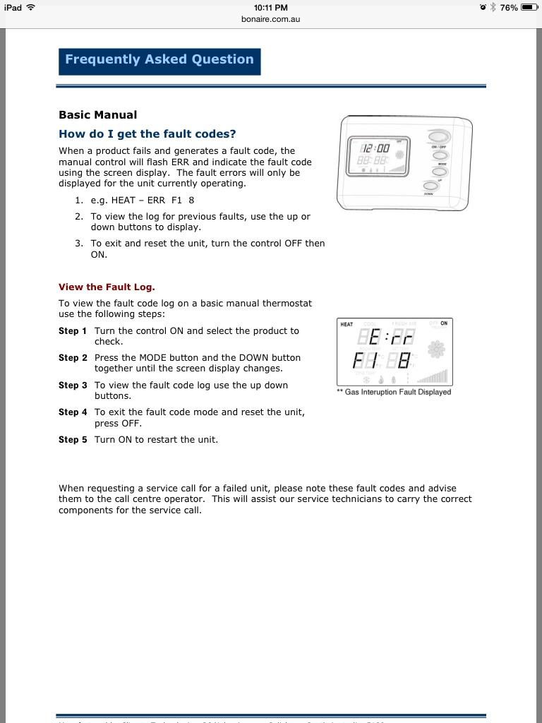 Bonaire B3 Manual Digital Thermostat 2019 Ebook Library