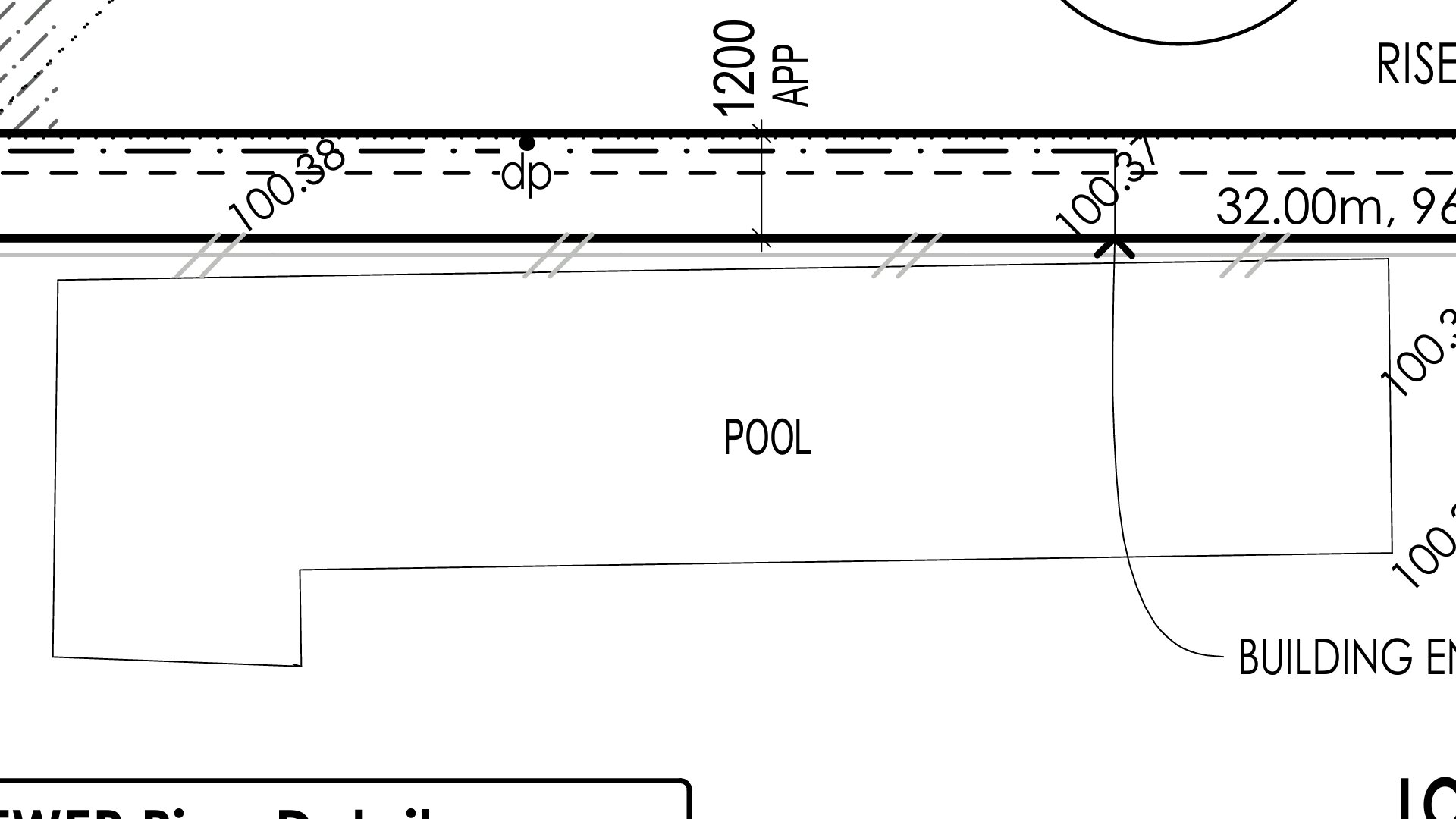 Building a new house, neighbour has a pool