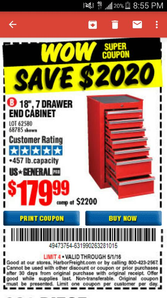 Harbor Freight Coupon Thread [Archive] - Page 34 - The Garage ...