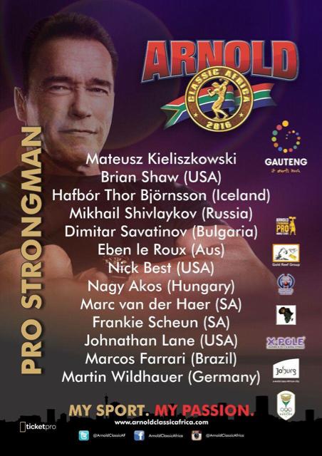 Arnold Classic South Africa!  04ab699a89de03568981637665b57930