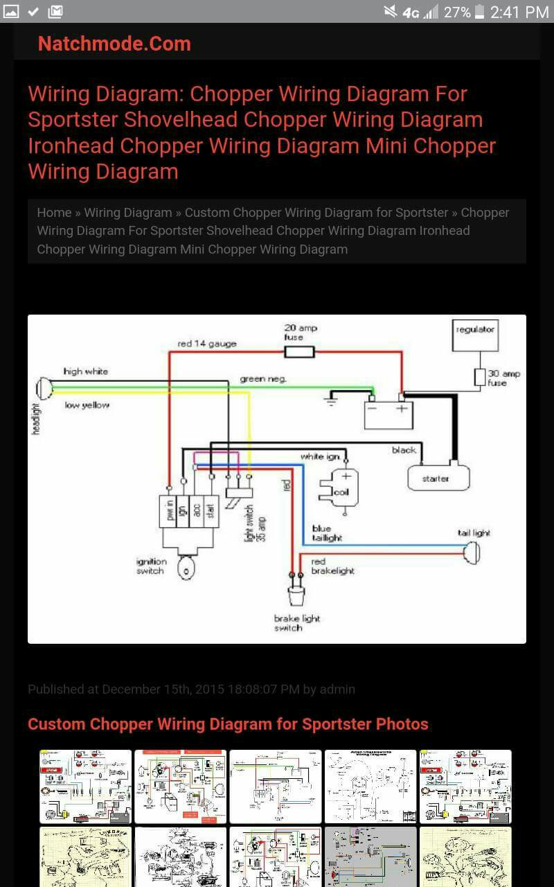 My Ironhead Wiring Schematic Diagrams 75 Diagram Simple For 87 Aporty Chopper The Sportster And Performance