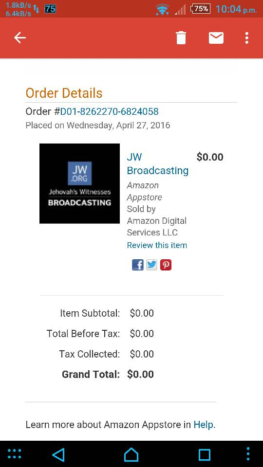 Req- JW Broadcasting for fire tv | Amazon Fire TV