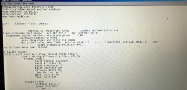 VWVortex com - AFS error/failure help?