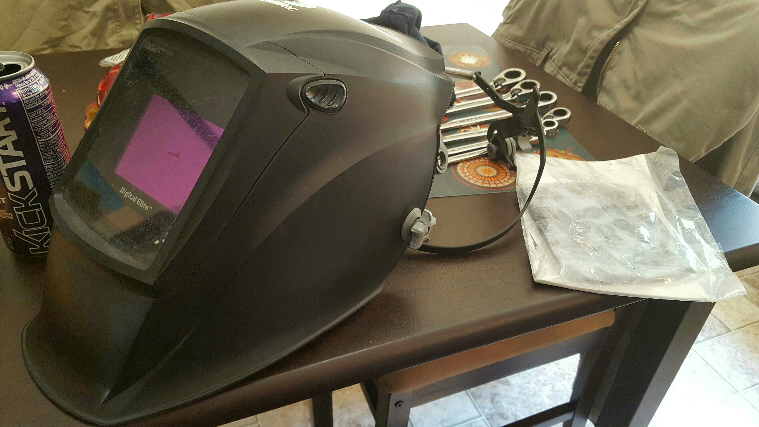 Miller digital elite kit, iron workers harness and some hand tools