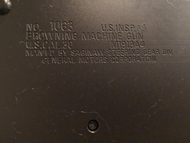 Browning 1919a4 - 4473/DROS markings? - Calguns net