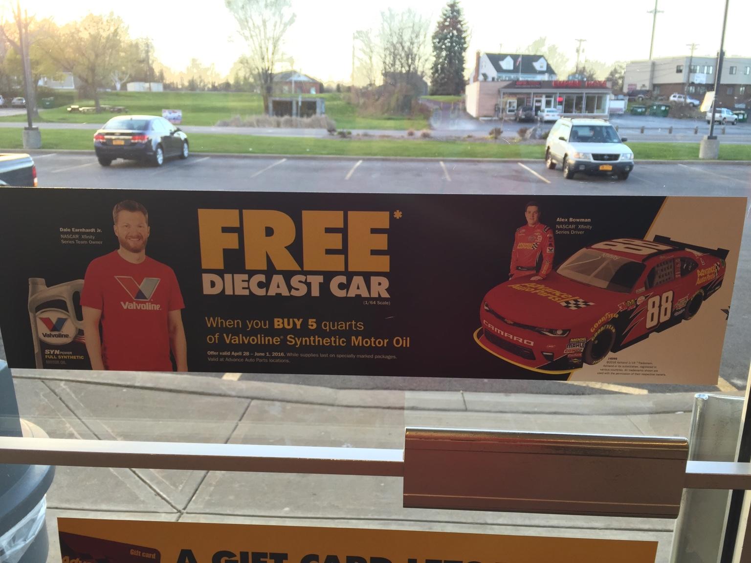 How Much Is Oil Change At Valvoline >> Alex Bowman Advance Auto Parts Valvoline Promo | Diecast