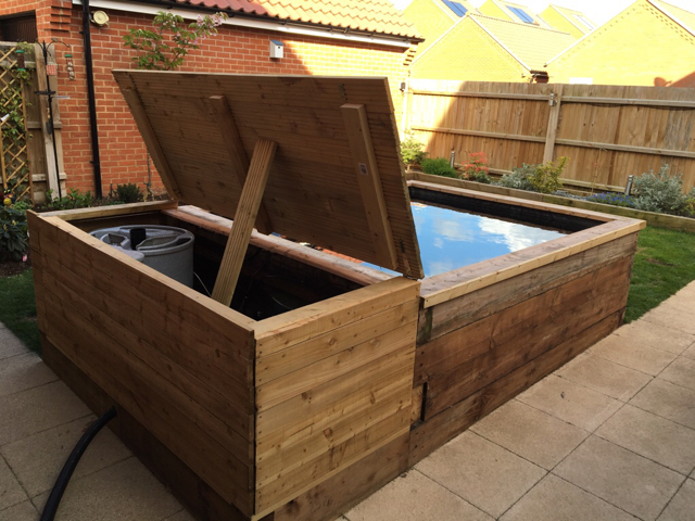 2000 gallon sleeper pond for Pond made from pallets