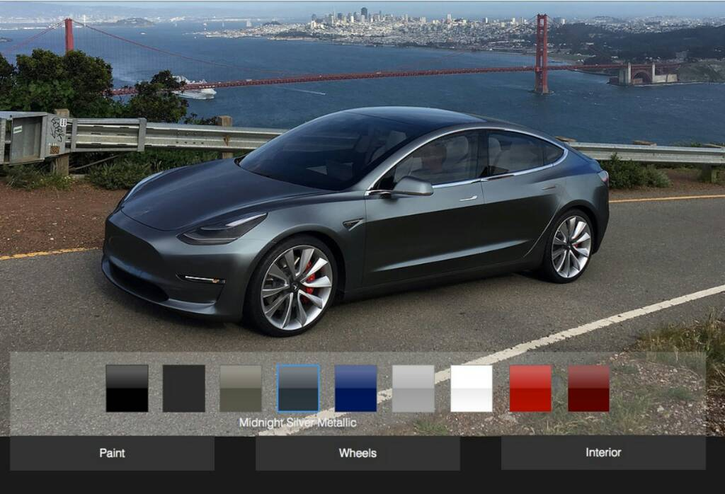 forum automobile propre configurateur tesla model 3 en ligne tesla model 3. Black Bedroom Furniture Sets. Home Design Ideas
