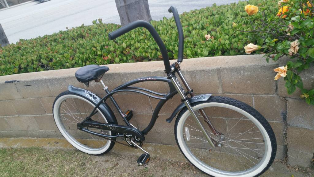 Dyno Kustom Kruiser Moto Glide 26 Inch Beach Cruiser Bike Rat
