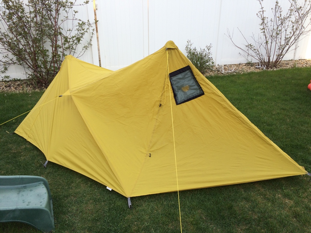 This tarps in great shape stove jack was sewn in professionally. $200 tyd. & For Sale Mountainsmith mountain shelter LT with stove jack.