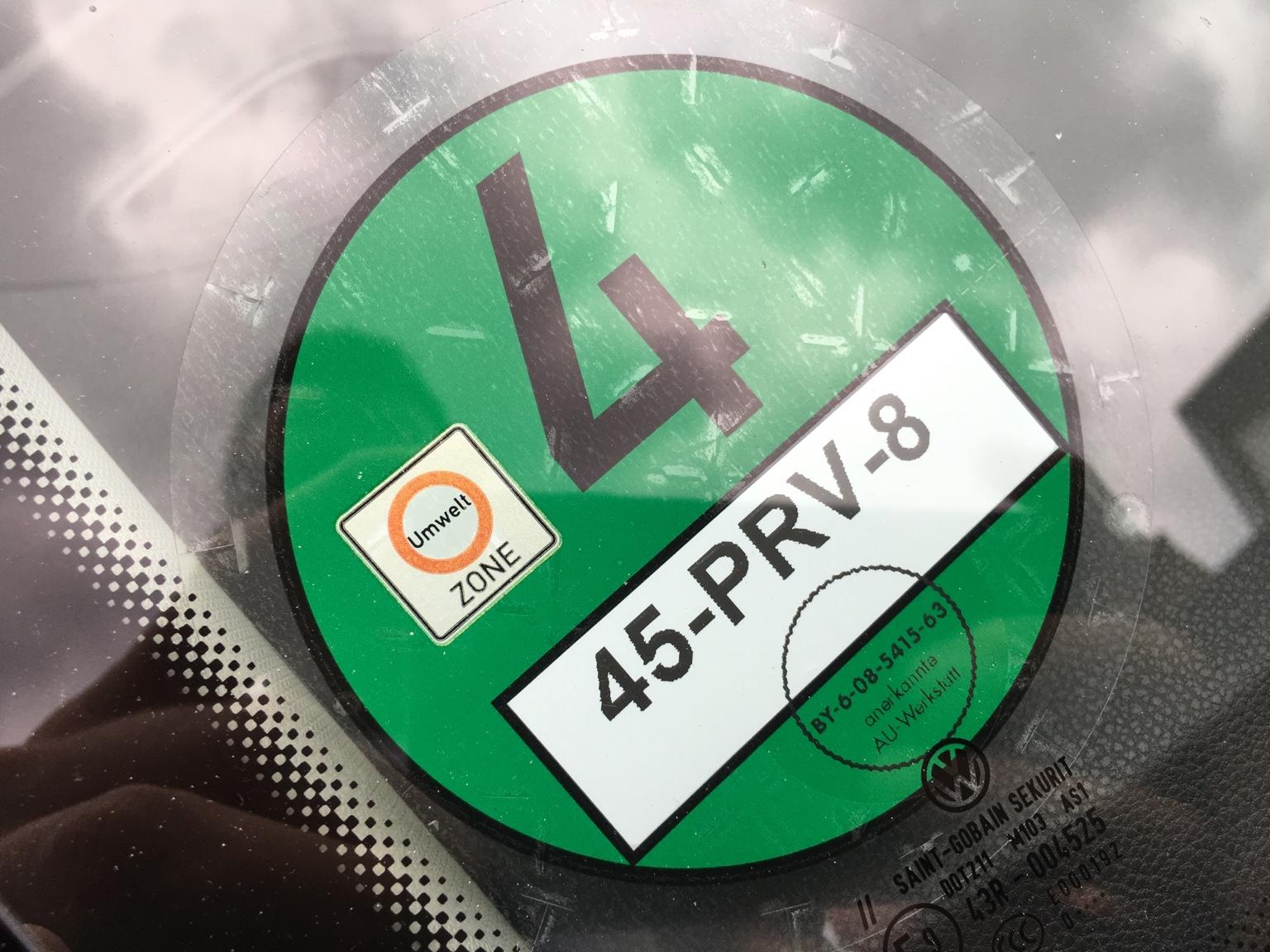 groene sticker duitsland