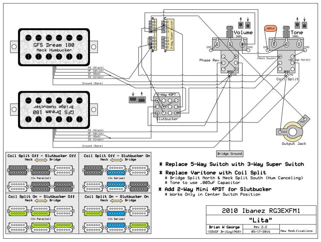 3 Way 4 Pole Blade Varitone Switch Wiring Diagram Okay Heres An Updated Version With The Actual Super I Also Stuck In A Of How 2 4pdt Works For Clarification