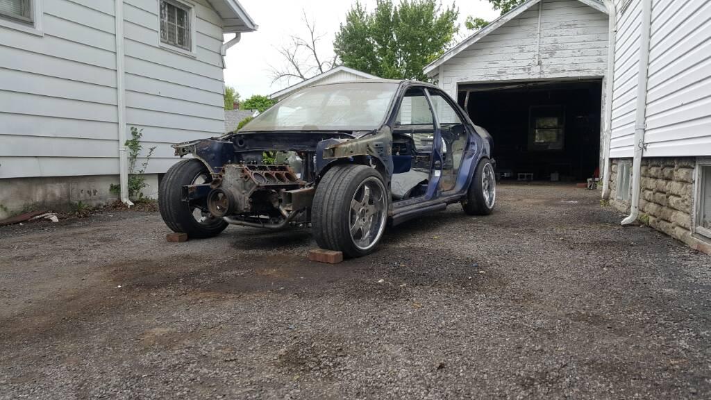 Rowdy burnouts and loud noises: The LSX/Subaru swap project