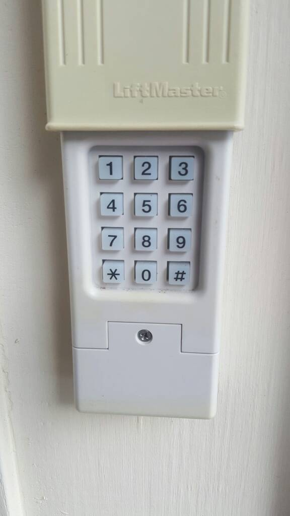 How to program garage door keypad without the code