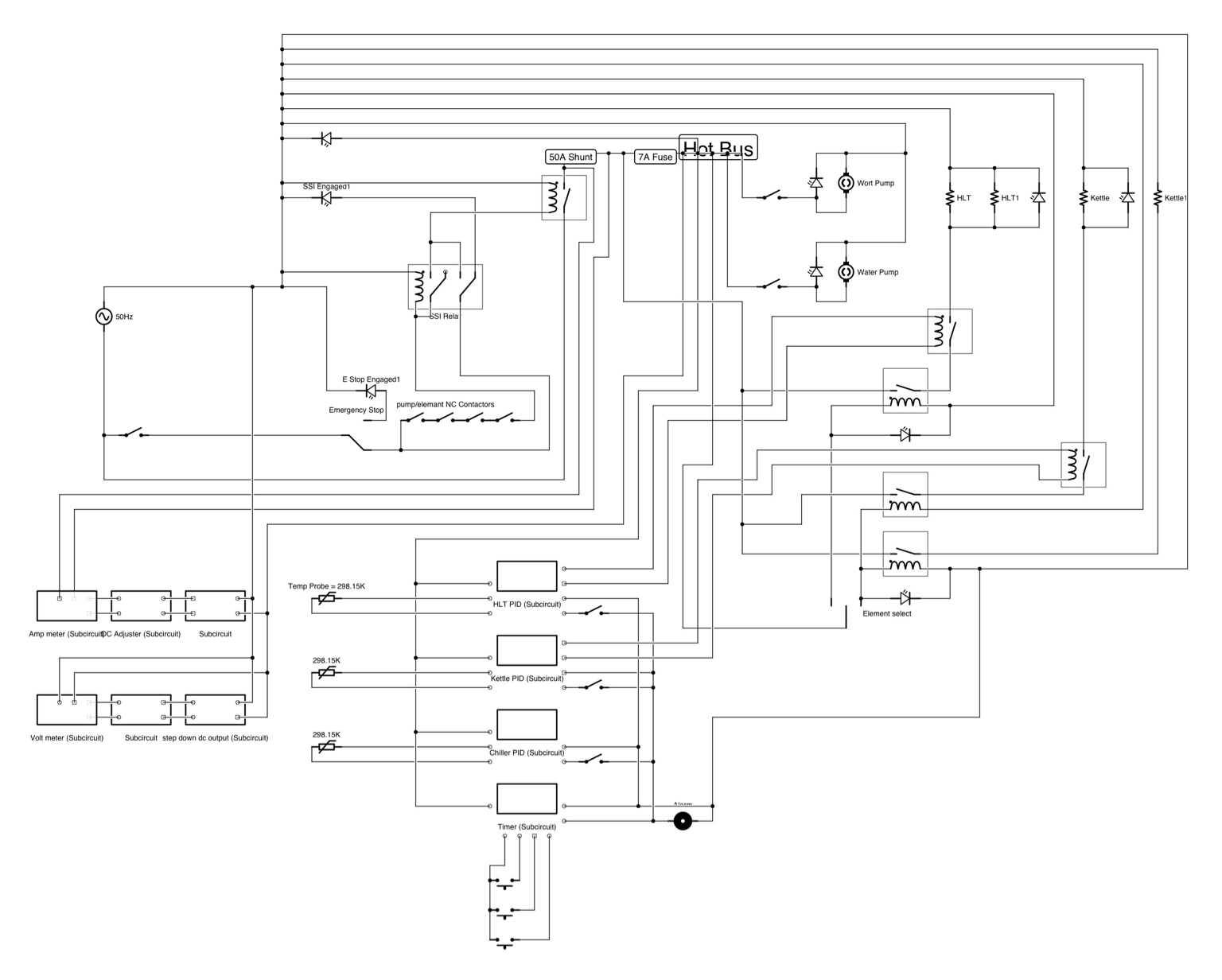 Electric brewery control panel wiring diagram for Brewery layout software
