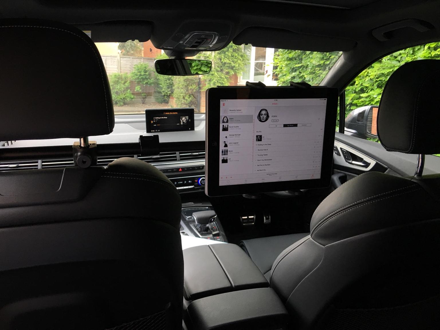 ipad rear seat entertainment. Black Bedroom Furniture Sets. Home Design Ideas