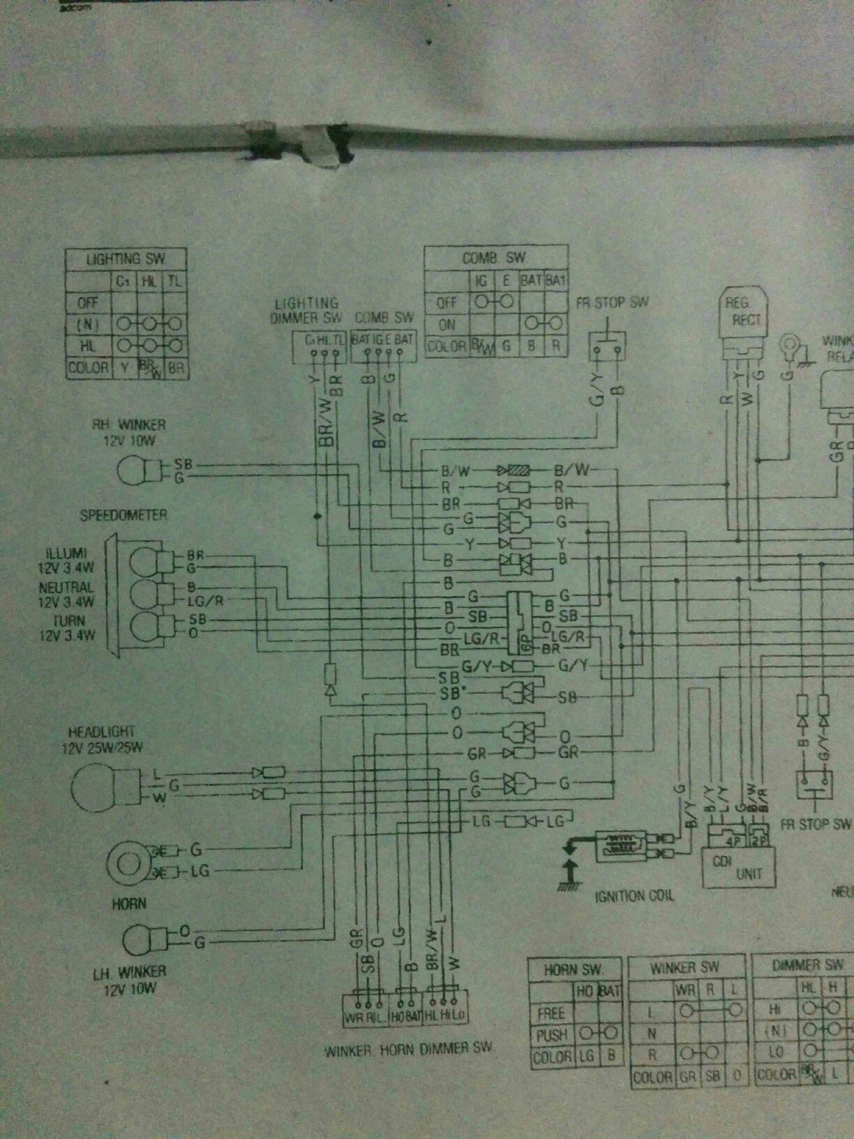 Need CD70 Service manual - Honda Bikes - PakWheels Forums Honda Cd Wiring Diagram Schematic on