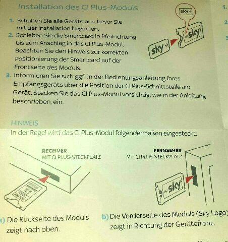 Hd Plus Modul Karte Einsetzen.Gigablue Boxen Mit Ci Einstellungen Informationen