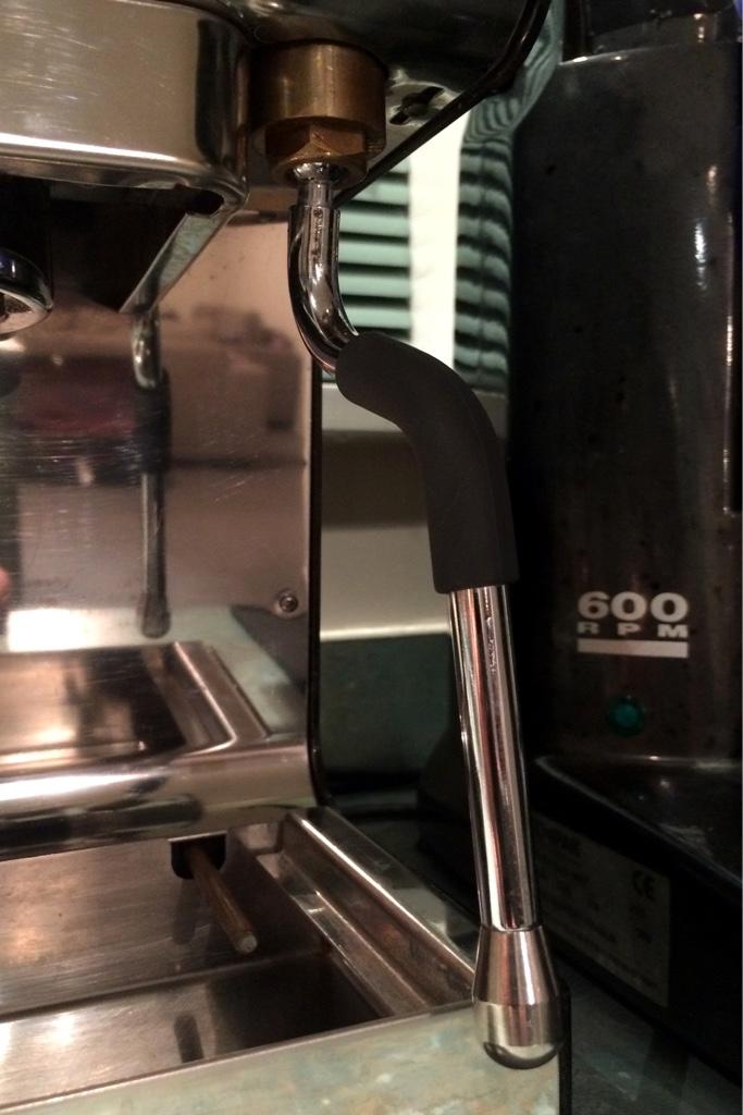 Old school aeropress espresso maker have grow those beans