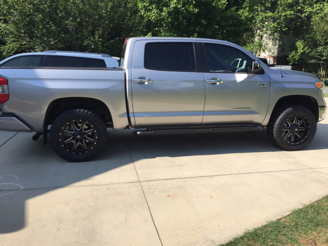 Bilstein 5100 middle setting on stock 2015 trd rims