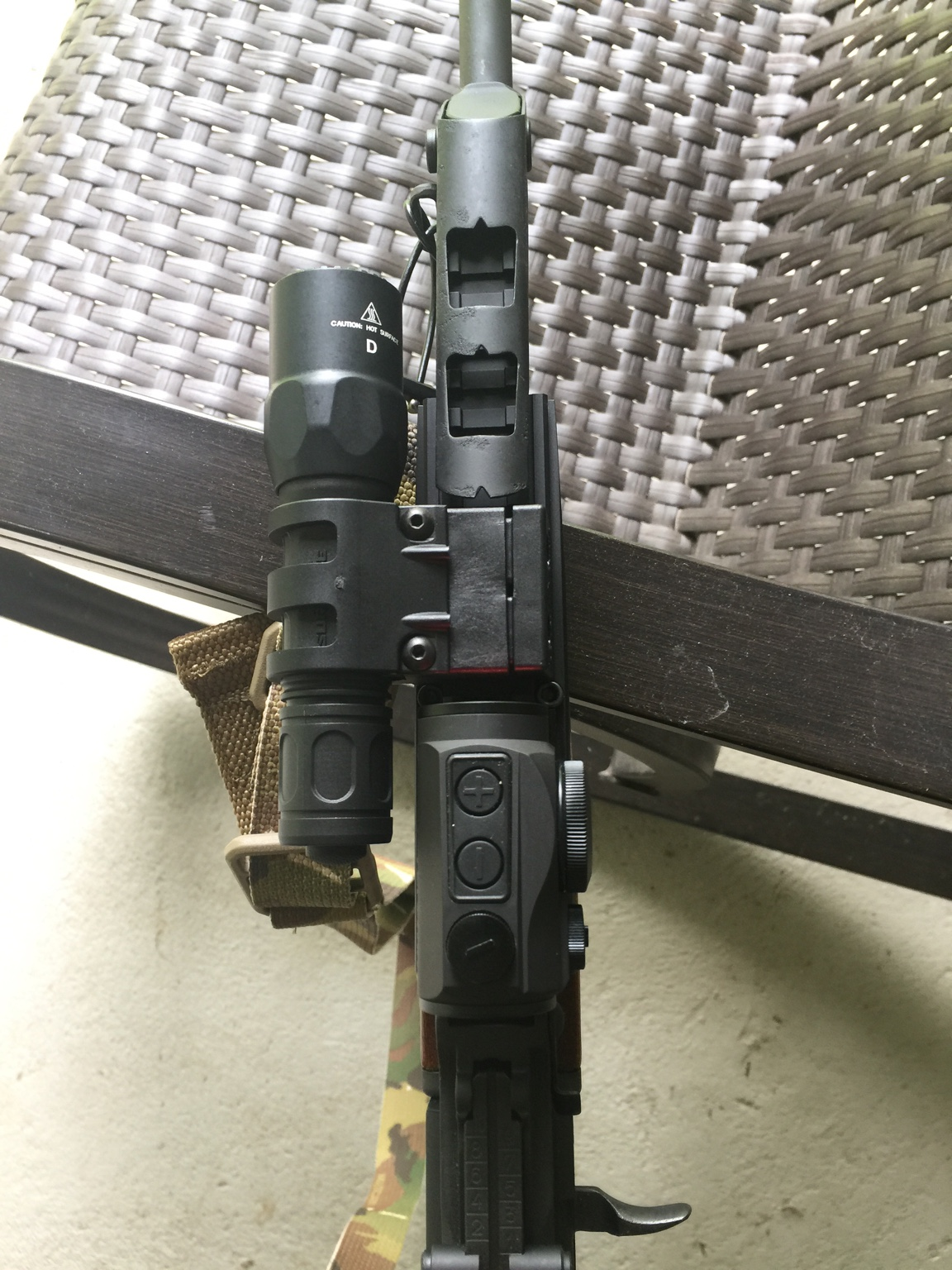 Mounting a light on AK with Ultimak - potential heat issues