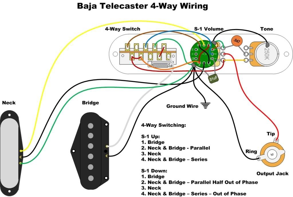 telecaster 4 way switch wiring  telecaster  free engine