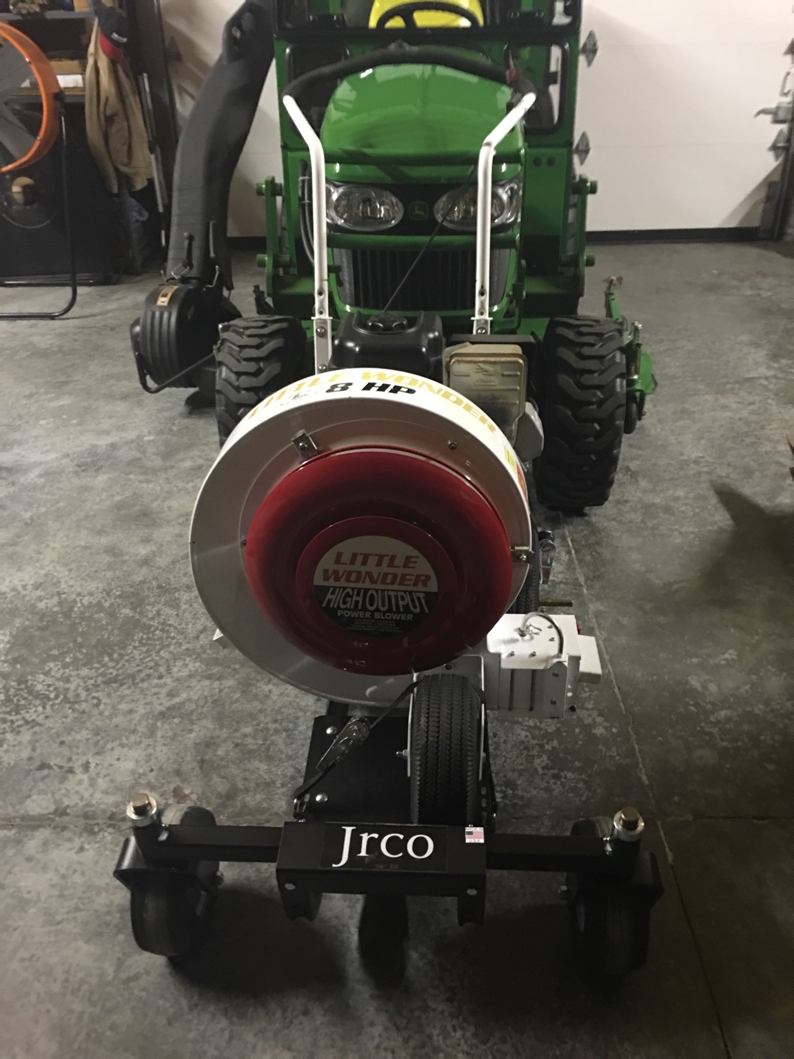 Front Leaf Blower Attachment