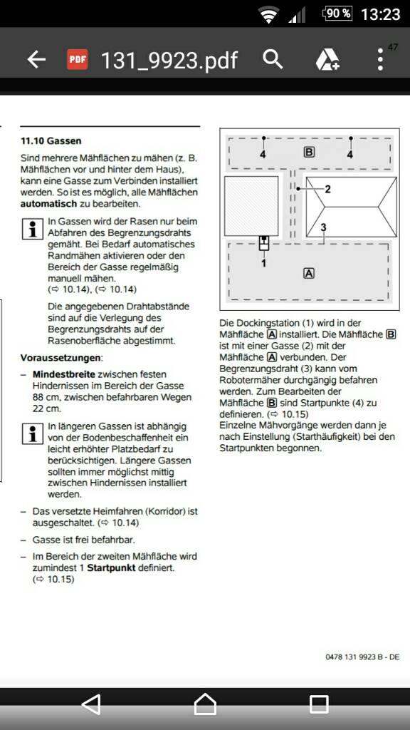 gasse installieren bei mi 422 p viking imow roboter. Black Bedroom Furniture Sets. Home Design Ideas