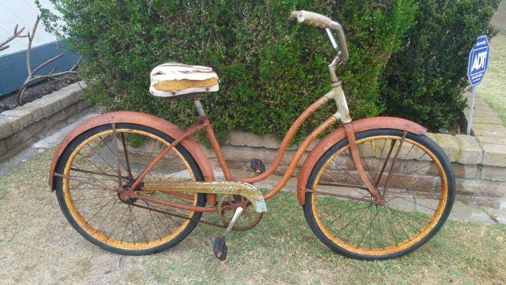 1958 Schwinn Spitfire Beach Cruiser Bike Original Rust Rides