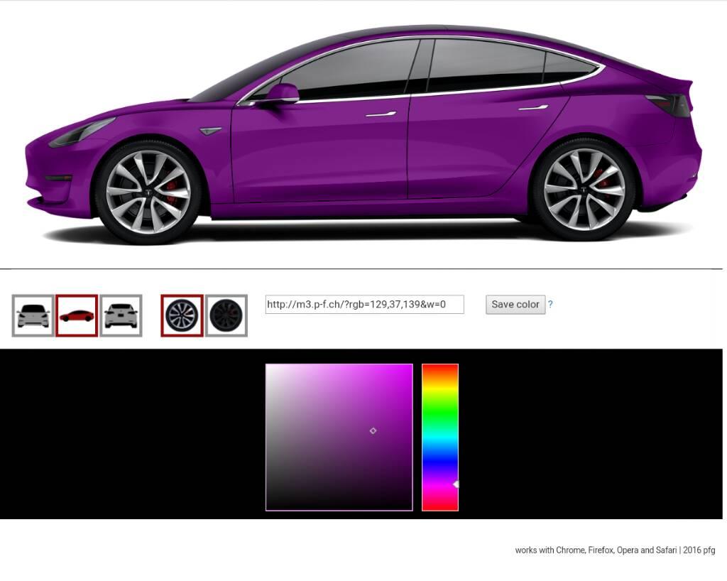 forum automobile propre configurateur tesla model 3 en ligne tesla model 3 page 3. Black Bedroom Furniture Sets. Home Design Ideas