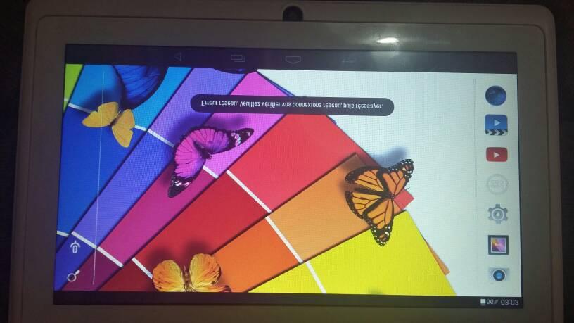 مشكل super tab A7  شاشة و كتابة مقلوبة