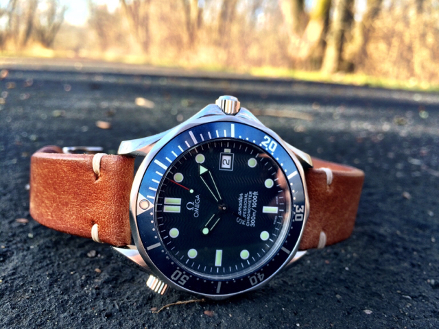 omega seamaster blue watch strap question