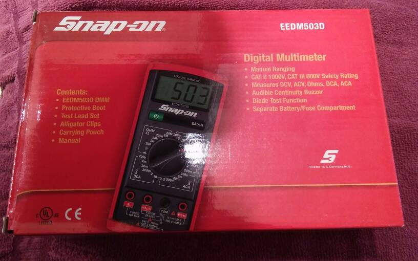 new snap on eedm503d advanced manual ranging multimeter carolina rh carolinashootersclub com