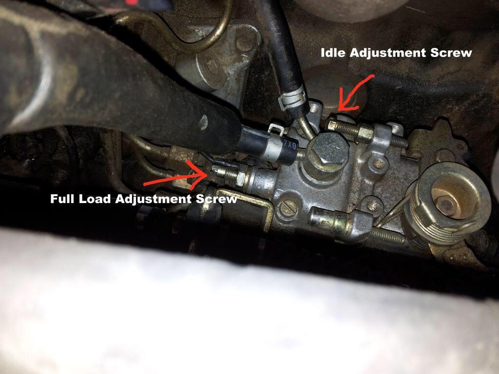 qd32 pump fuel adjuster screw