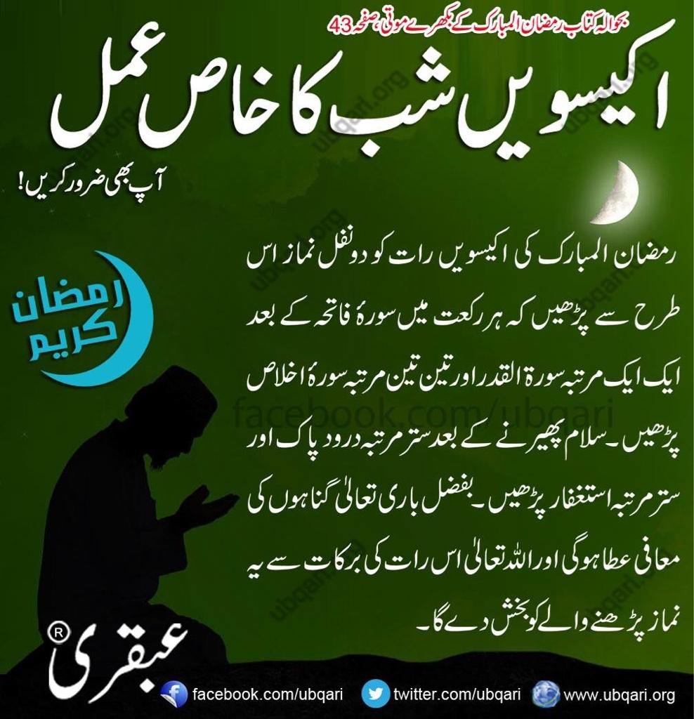 e8fab063741d9037536246cf4a1db474 - 21st Ramadan Ka Khas Amal