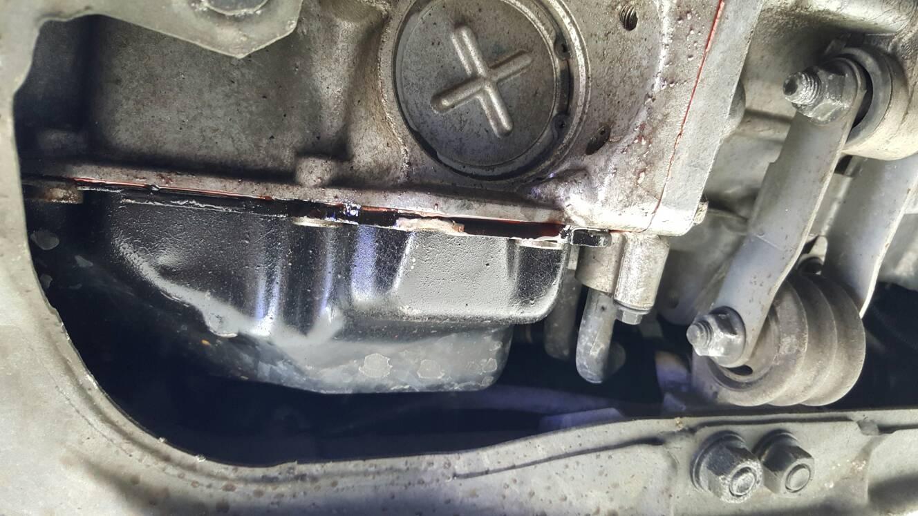 Trans fluid leaking