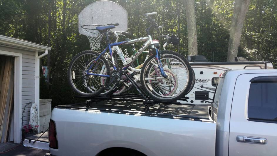 Rv Net Open Roads Forum Travel Trailers Bikes Over Tonneau Cover