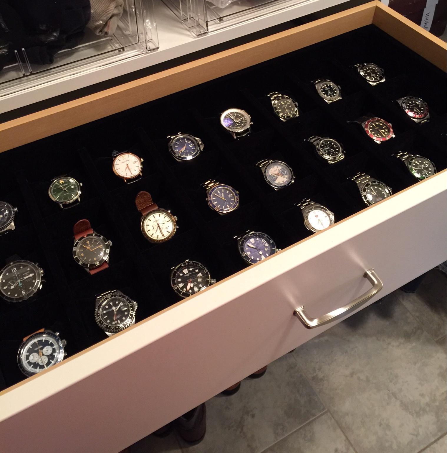 New Custom Closet With Watch Drawer