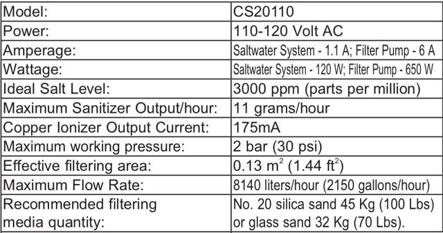 Intex SWG chlorine output | Trouble Free Pool