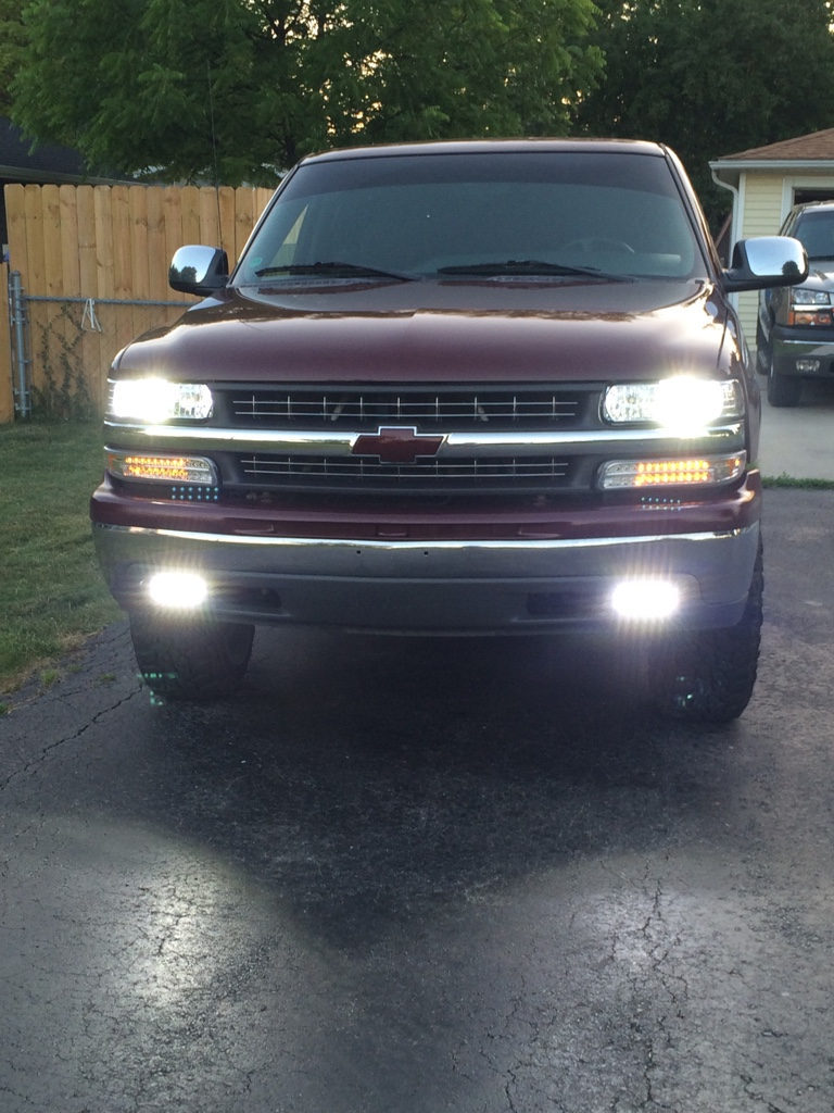 Custom Led Fog Light Install 2001 Silverado Chevy Truck