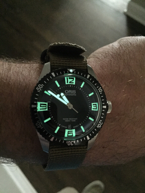 Oris divers 65 black dial 40mm - 40mm dive watch ...
