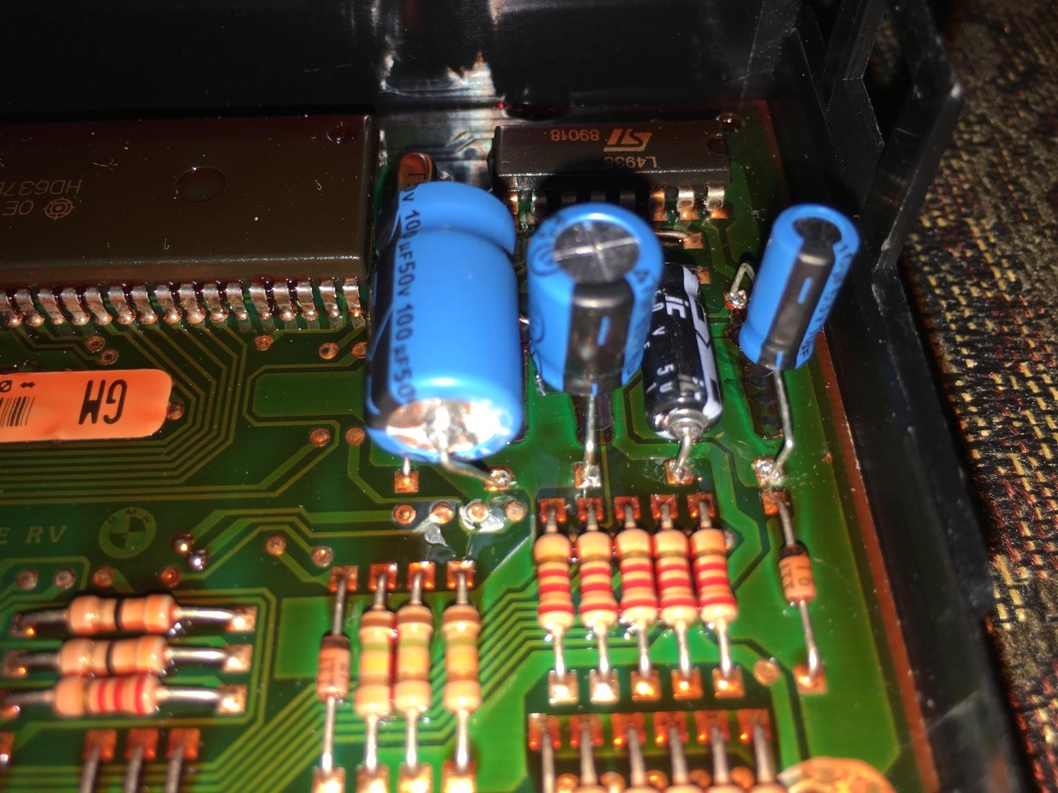 Success In General Module Repair Archive Bimmerforums The Track Damage Capacitors Elco With Esr Meter Ultimate Bmw Forum